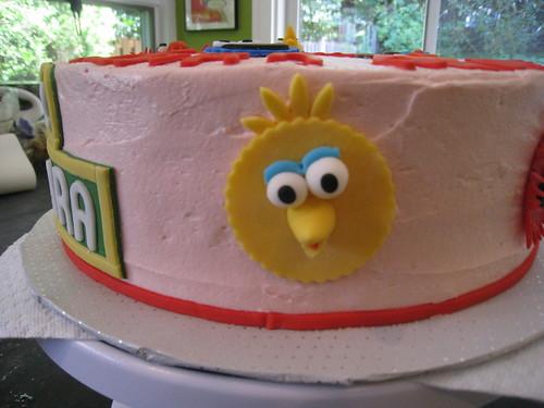 Clara and Emma's Sesame Street cake