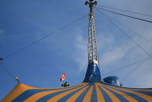 Cirque du Soleil pitched their tent!