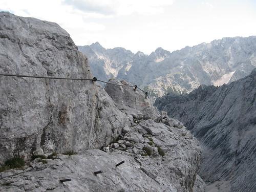 Abstieg von der Alpspitze via Ostschulter