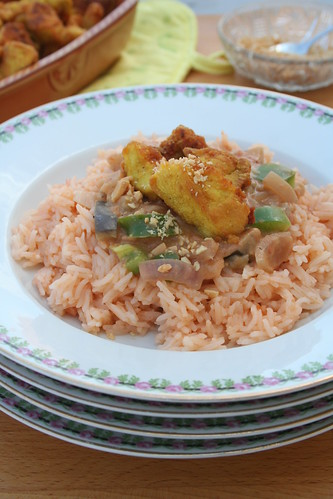 Curcuma Chicken with Peanut Salsa