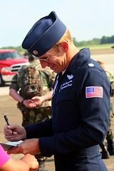 Air Show: Thunderbird Pilot 1 Lt. Col. Case Cunningham