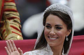 Diamonds on earrings Kate Middleton