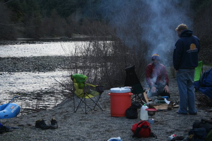 camping and cooking on river trips