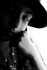 .. دمعة اشتياق ..  yearning tears (Maryam.Ibrahim) Tags: bw love girl sad tear fofo fatma fa6om