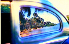 Reflection of the beach VW 1955 (juliealicea1947) Tags: 1955 beach vw reflections volkswagen puertorico beetle luquillo
