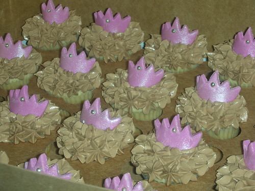 chocolate tiara cupcakes - mini