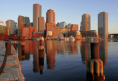 Boston Harbor Sunrise by Della Huff Photography