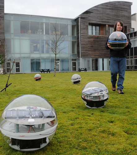 Jeremy Wilkinson with Arctic buoys