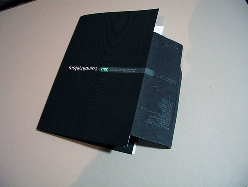 Front with business card holder