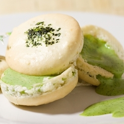 Macarons with Green Tea Filling