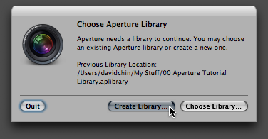 Step 02 -- Click Create Library button
