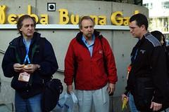 Russ, Robert, and Richard waiting to see Satoru Iwata.