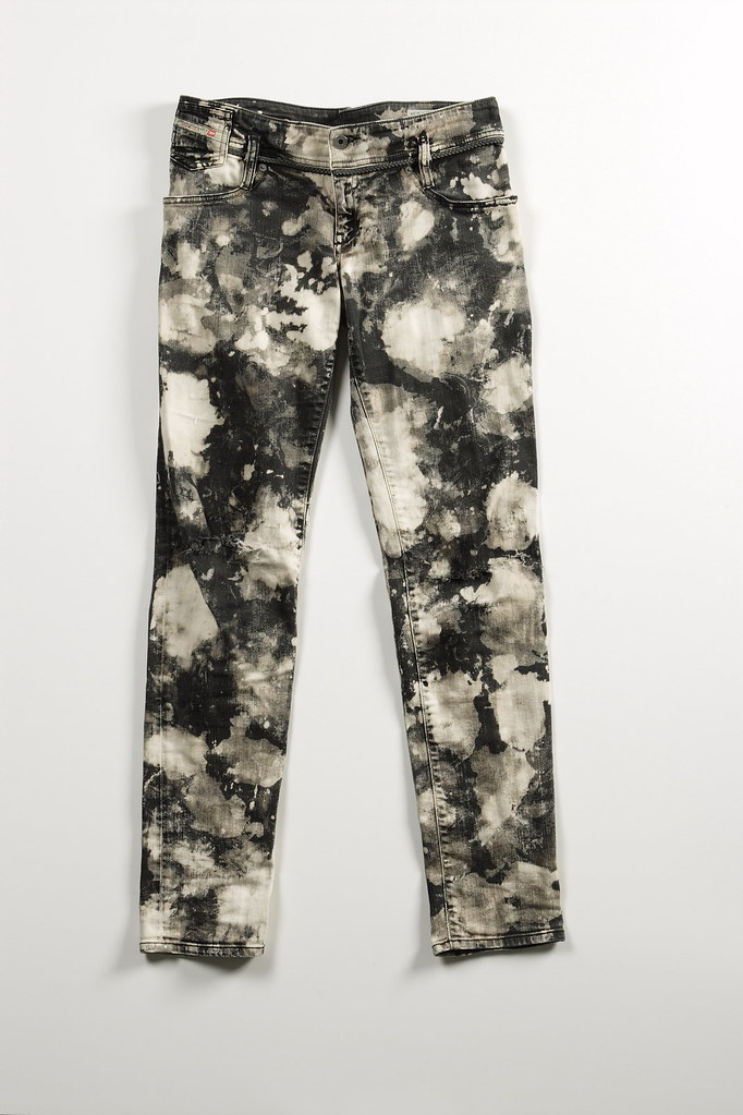 Balmain inspired bleach jeans