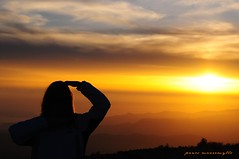 The Look (Panos Mavromytis - ) Tags: sunset sky orange sun nature sunshine silhouette yellow clouds evening looking dusk dramatic thesky overlooking d300 orangesunset theunforgettablepictures