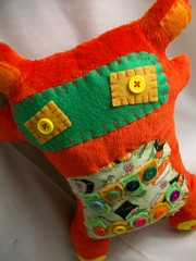 Red Herring (LittleCritters00) Tags: green monster soft little critter felt plush plushie eco plushteam