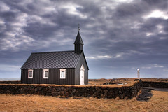 Bakirkja Church Bahraun, Kirkja (**Anik Messier**) Tags: church clouds iceland nuages glise soe hdr islande snfellsnes bir bakirkja kirkja blueribbonwinner digitalblending bentlrusson bakirkjachurchbahraun protectedchurch relocatedchurch