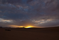 The wake up call (Antoine R.) Tags: travel blue nature yellow clouds sunrise trek landscape geotagged algeria sand nikon desert dune tokina event algérie bivouac djanet d80 1224f4 igotu geo:lat=2459970100 geo:lon=911199300 yweatherproject