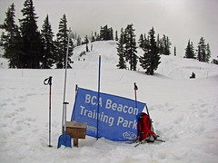 Avalanche Beacon Search Practice Area