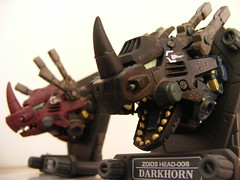 Zoids Head Dark Red Horn (nuo2x2) Tags: red dark toys trading figure horn mecha zoid triceratop zoids redhorn jfigure darkhorn nuo2x2
