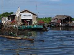 flowered terrace (ceila) Tags: people asia cambodia village tonlesap