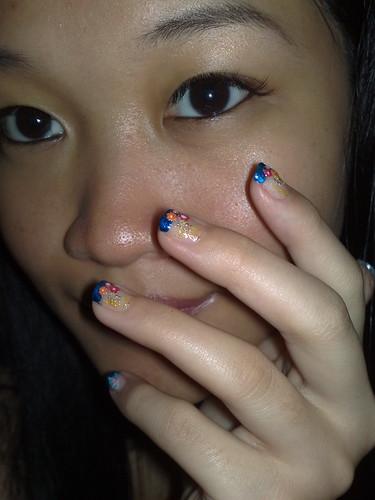 DIY nail art.