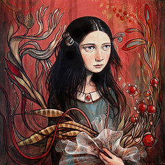 """""""Curious Bouquet"""" (verpabunny) Tags: show original art painting losangeles acrylic gallery solo thinkspace kellyvivanco theconservatory"""