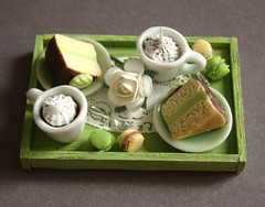 Miniature Food - Pistachio Tea Tray (PetitPlat - Stephanie Kilgast) Tags: miniature handmade chocolate polymerclay tray minifood teatime minis chocolat dollhouse dollshouse miniaturefood minicake miniaturen pistchio petitplat stphaniekilgast minaitured minaiturecake