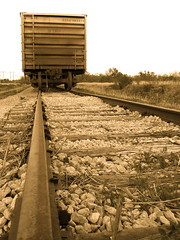 Box Car (ChristinaGMiles) Tags: railroad oklahoma sepia train country tracks boxcar supershot