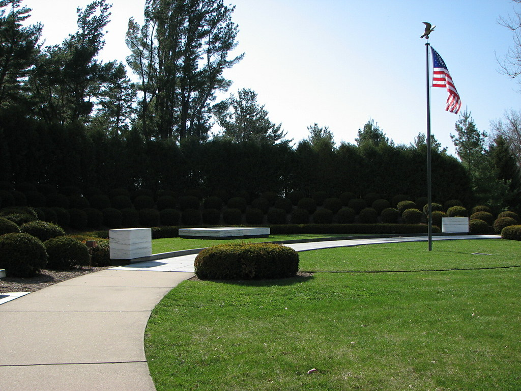 The burial site of Herbert and Lou Henry Hoover
