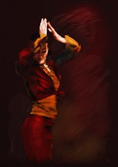 The Flamenco Dancer (Pat McDonald) Tags: ballet argentina de dance spain ballerina danse andalucia firstplace bale guitarist flamenco dans ballo intensity cazador bailar gitana bailaora castanet andalus blueribbonwinner bailaoras victorino abigfave espana platinumphoto theunforgettablepictures goldstaraward kunstplatzlinternational imagenes cazadordeimagenes