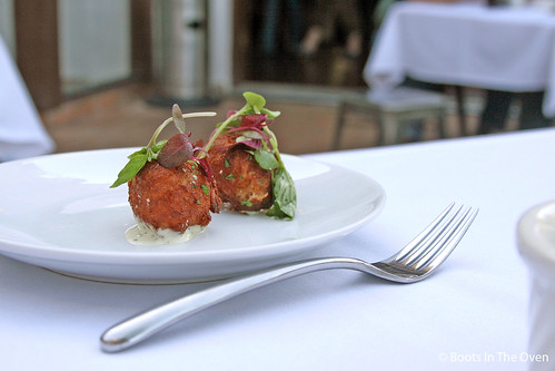 Crab Fritters, Sauce Ravigote