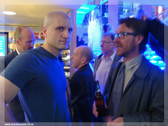 Sci-Fi London 8 - Sci Fi celebs, Author China Miéville and that's William Hurt in the background