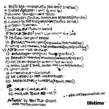 Smalltown Romeo: Lifetime Collective Mix track listing