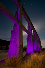 Purple Rattlesnake (Noel Kerns) Tags: abandoned night army ruins force desert air bomber rattlesnake base airfield pyote