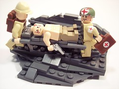 Iwo Jima: Medic! (Andrew F.) Tags: world two war lego injury ii ww2 medic browning m1919