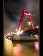 Willemsbrug (3) - Rotterdam (DolliaSH) Tags: city bridge light urban holland color water colors architecture night canon river stars puente photography eos lights photo rotterdam europe colours foto nightshot photos tripod wide nederland thenetherlands wideangle ponte explore most le pont holanda brug maas brcke ultrawide 2009 1022mm hdr 1022 afterdark willemsbrug brucke photomatix 50d tonemapping visitholland eos50d abigfave canoneos50d detailsenhancer dollia dollias sheombar