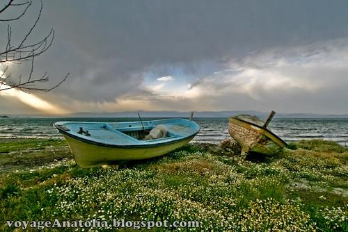 Boats at Akcay Beach