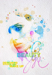 Poster Beauty Style (MARCIO HIROSSE) Tags: beauty illustration composition design paint graphic image style beleza ilustrao tipografia typographic estetica