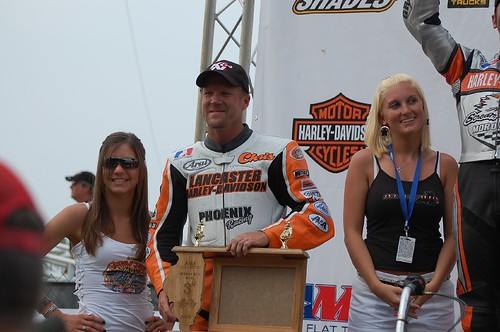 D&D Sponsored Flat Track Racers - Chris Carr Gets His First Podium of the Year with a 3rd @ Springfield.