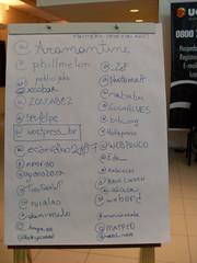 Quadro com Twitter da galera que participou do WordCamp por Marcelo Costa
