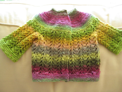 Baby Sweater of Many Colors