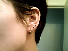 new piercings (galendara) Tags: ear earrings piercings traguspiercing
