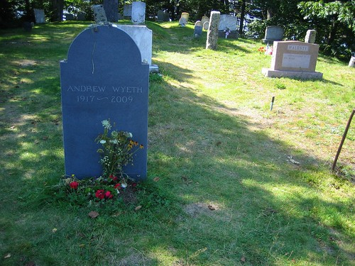 Andrew Wyeth Gravestone in Maine