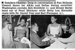 Deep in Conversation at Alpha Kappa Alpha and Delta Sigma Theta Sorority Conclaves - Jet Magazine, September 4, 1958 (vieilles_annonces) Tags: old people usa black history vintage magazine aka print washingtondc scans fifties photos african negro retro ephemera nostalgia photographs american 1950s 1958 americana colored 50s magazines articles folks oldphotos civilrights 50thanniversary newsclipping boule blackhistory vintagephotos africans africanamericanhistory dst alphakappaalpha negroes peopleofcolor vintagephotographs washington vintagemagazine dc deltasigmatheta coloredpeople alphakappaalphasorority negrohistory coloredfolk panhelleniccouncil blacknews alphakappaalphahistory akahistory alphakappaalphasororityhistory deltasigmathetahistory dsthistory deltasigmathetasororityhistory bobhollifield denzerburke pearlmitchner bettyloukernodle drdanielveal earlflanagan panhelleniccouncildance bobhillifield bettylouskernodle