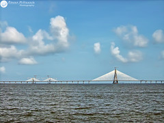Bandra Worli Sealink, Mumbai - India ( Rizwan Mithawala) Tags: ocean morning travel bridge blue sea sky india white beach architecture clouds asia engineering landmark bombay marvel mumbai bmc mws bandra dadar worli arabiansea rizwan mahim bandraworlisealink img0066 rizwanmithawala mithawala bandraworlisealinkmumbaiindia