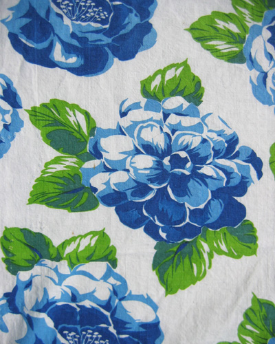 blue floral feedsack