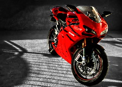 Ducati 1098 #1 (BOSSoNe0013) Tags: red rouge moto motorcycle ducati hdr selectivecolor 1098 3xp tonemap 7daysofshooting processedwednesday week13commutingandtravel