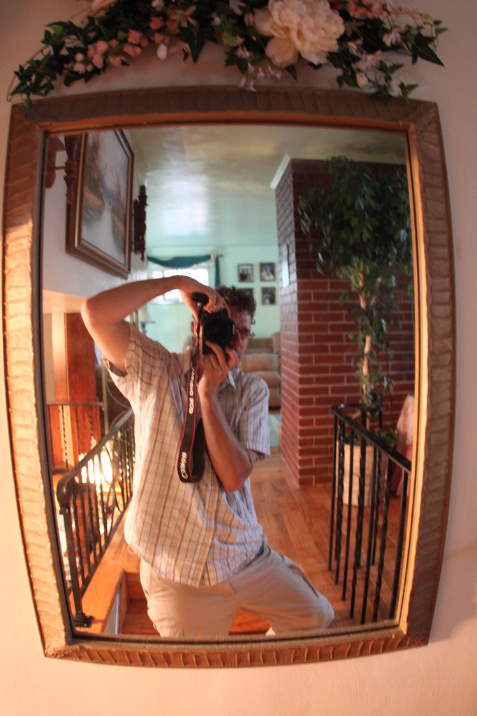 Fisheye self-portfolio mirror