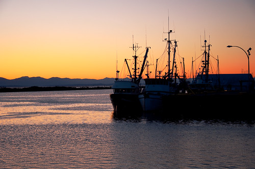 "Steveston Fishing Boats at Sunset • <a style=""font-size:0.8em;"" href=""http://www.flickr.com/photos/53952140@N00/4605409431/"" target=""_blank"">View on Flickr</a>"