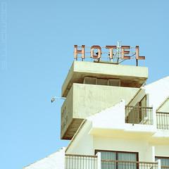 """""""HOTEL"""" (Domonte Design) Tags: blue sky azul square hotel blu himmel cel bleu ciel cielo ceo blau ceu quadrat zerua carre cuadrado urdina cadrado"""